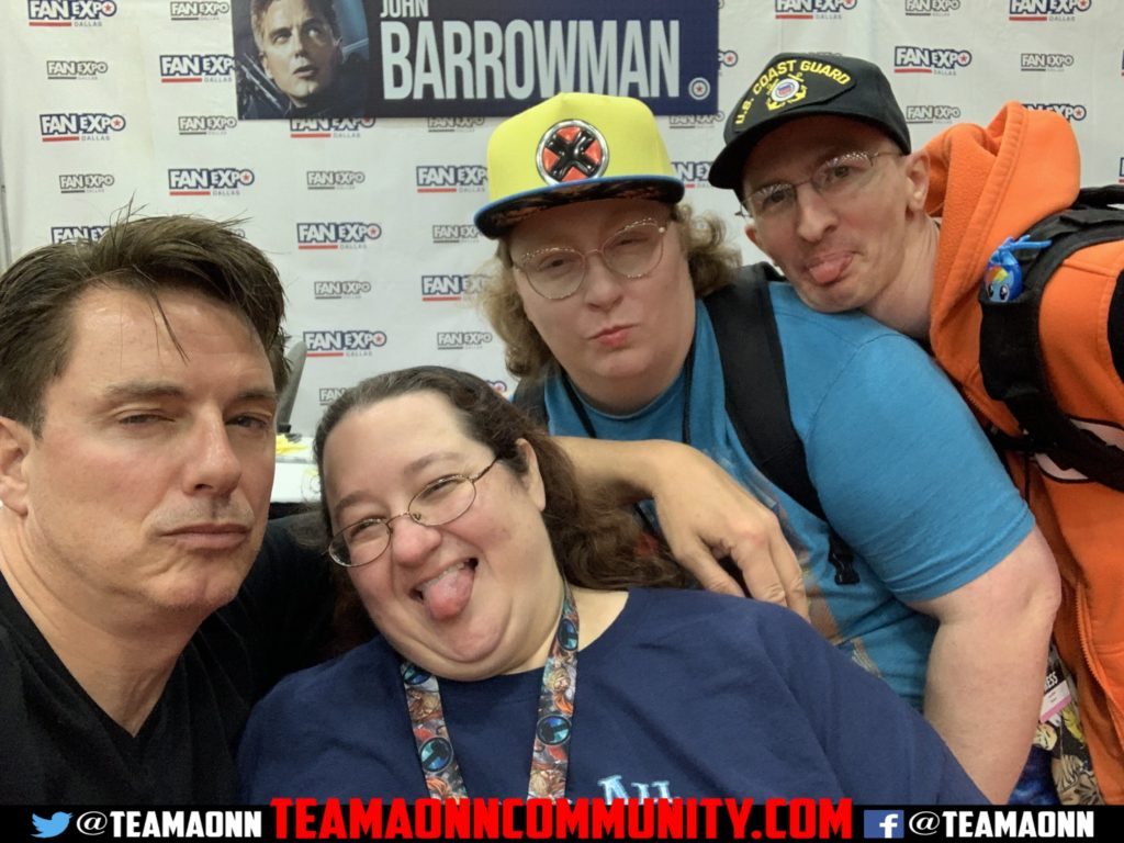 Sil, Nova, & Odogoo with John Barrowman Table