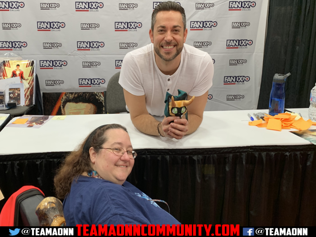 Sil and Minionette with Zachary Levi Table